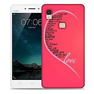 Snoogg Valentines Day Girly Love Designer Protective Phone Back Case Cover For Vivo V3 Max