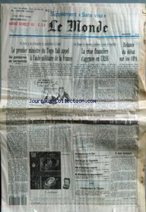 MONDE (LE) [No 14569] du 30/11/1991 - DU GENDARME ...