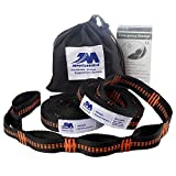 XL Hammock Straps, 9.2 Feet Long,18+1Adjustable Loops Extra Strong & Lightweight 2200+LBS Breaking Strength, No Stretch Polyester Tree Friendly, Quick Easy Setup Suspension System