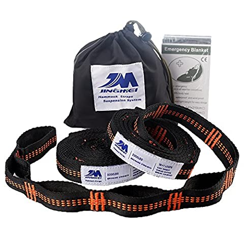 XL Hammock Straps, 9.2 Feet Long,18+1Adjustable Loops Extra Strong & Lightweight 2200+LBS Breaking Strength, No Stretch Polyester Tree Friendly, Quick Easy Setup Suspension
