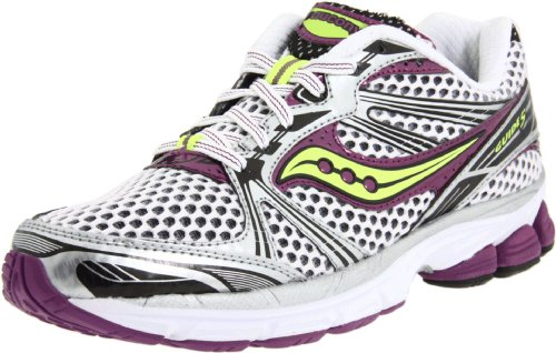 Saucony , Damen Laufschuhe Mehrfarbig Weiß/lila/Zitrone - Saucony Progrid Guide Schuhe