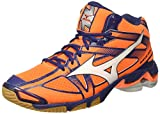 Mizuno Wave Bolt 6 Mid, Herren , Arancione (Orange Clown Fish/white/blue Depths)