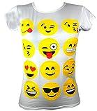 Aelstores Filles T-Shirts et Leggings Emoji émoticônes visages souriants à manches courtes Tops jeunes Enfants âgées de nouvelles 7 9 11 13 ans