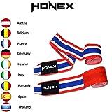 Honex Paire de Bandages de Boxe Thaïlande Extensible 4 m de Bande de Haute qualité pour Boxer et MMA Style Mexicain Ultra Doux et Robuste pour Homme et Femme