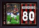 SGH SERVICES Poster Ronaldinho Mailand, gerahmt, Fotoposter