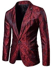 Amlaiworld Uomo Elegante Solido Un Pulsante Partito Prom Smoking Slim Fit  Blazer Vestito Giacca 395c7ed4b5a