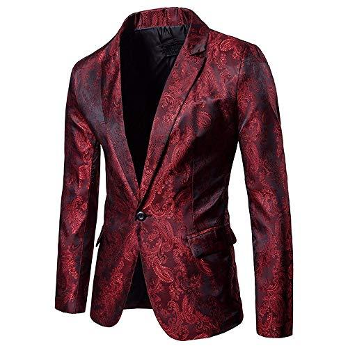Amlaiworld Uomo Elegante Solido Un Pulsante Partito Prom Smoking Slim Fit Blazer Vestito Giacca