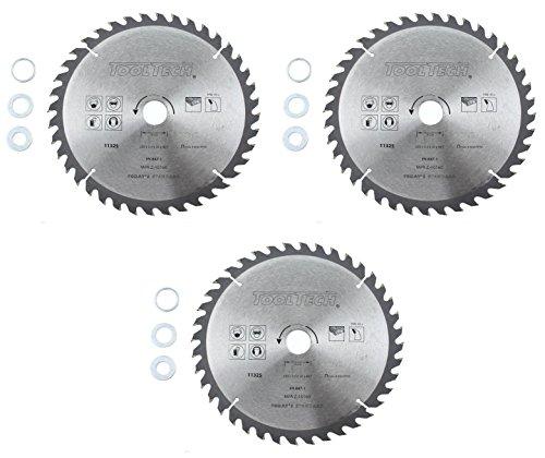 3x Kreissägeblatt 250 x 30mm Holz HM Sägeblatt 40Z Reduzierringe 16-20-25,4mm