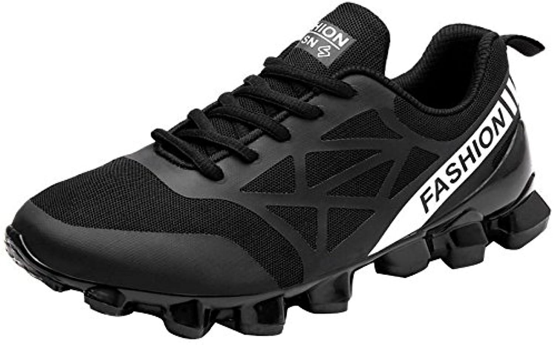 YXLONG Zapatos Deportivos Transpirables para Verano para Hombres Nuevos,7717black-44  -
