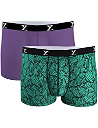 [Sponsored]XY XX Men's Multi Color Micro Modal Trunk (Pack Of 2) - B07FXR5X43