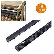 Lüftungsgitter für Dachtraufen, 10 x 1 m, 25 mm, Luftdurchlass