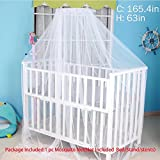 Sealive White Baby Nursery Mosquito Net Baby Toddler Bed Crib Canopy Netting Dome Hanging Mosquito Netting(Not Included Bed&Bed Crib Canopy&Netting Dome Hanging )