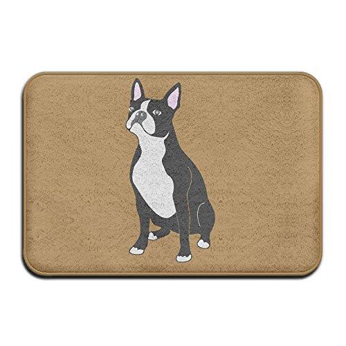 goodsale2019 Boston Terrier Hund Rutschfeste Indoor/Outdoor Bodenmatte für Gesundheit und Wellness Küche Flur Bad Büro Badezimmer Fußmatte 23,6