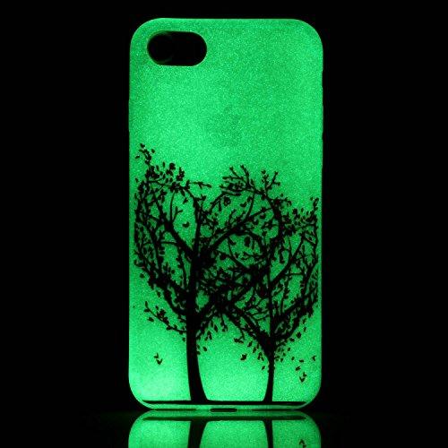 inShang iPhone 7 Plus Custodia 5.5 inch [Trasparente cover iPhone] [luminoso nel buio], comoda Cover posteriore di case di stile di protezione + inShang Logo pennino di alta classe 19
