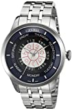 Gevril Columbus Circle Mens Swiss Automatic Silver Stainless Steel Bracelet Watch, (Model: 2000B)
