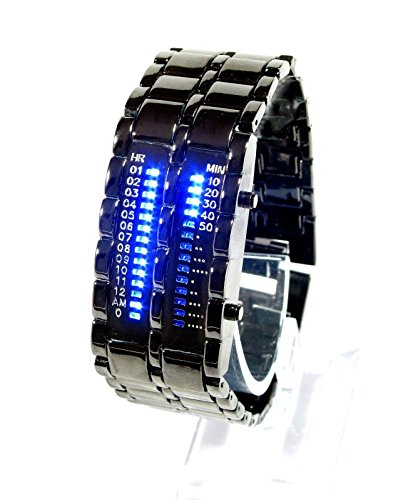 Military-Style-Blue-Mens-LED-watch-Futuristic-super-cool-mens-wristwatch-ideal-alienware-accessory