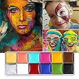 Cara Cuerpo Pintura Imagic marca Flash 12colores caso Halloween Fancy Dress-Pintura al óleo arte belleza.