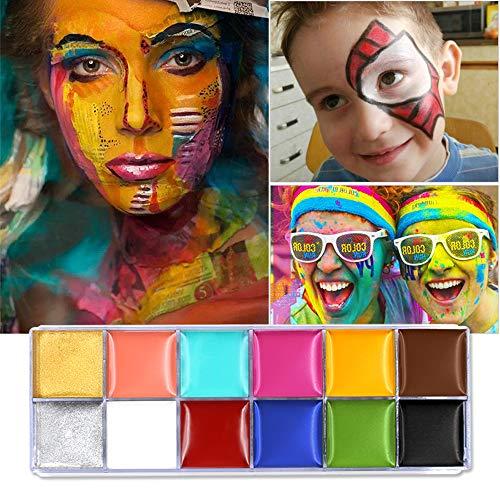 Cara Cuerpo Pintura Imagic marca Flash 12colores