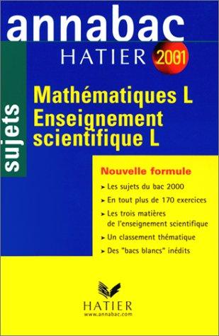 Mathématiques, enseignement scientifique, L.