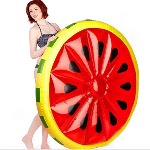 Leoboone Rund Watermelon Art Pool Beach Aufblasbare Schwimm Bett Aufblasbare Sitz Wasser-Luft-Bett Lounger Hilfe-Trainer