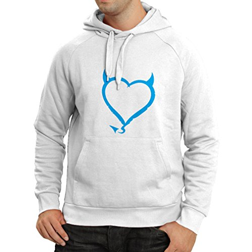 N4013H Hoodie Devil heart Funny Gift Colors/Sizes Bianco Blue