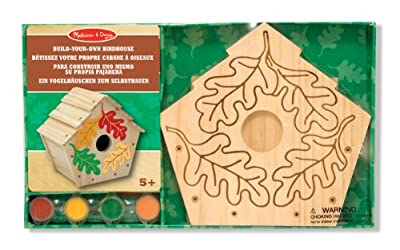 Melissa & Doug Build-Your-Own Wooden Birdhouse Craft Kit by Melissa&Doug