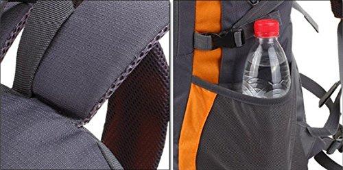 LQABW Außen 35-40L Schulter Mountaineering Oxford Tuch Wasserdicht Polyester Reduzierte Reduzierte Wandernde Kletternde Rucksack Tasche Green