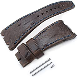 Brown Scratch Leather of Art Watch Strap for Audemars Piguet Royal Oak Offshore, Navy St