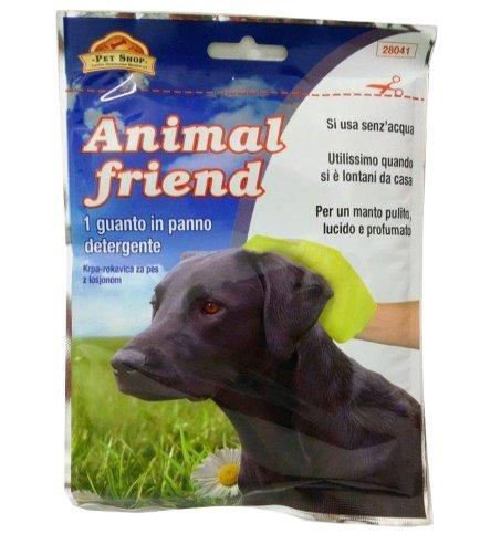 Pet Shop Guanto in panno Animal Friend - Detergente per cane, da utilizzare senz'acqua
