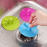 #4: Electomania™ Kitchen Basin Floor Drain Cover Sink strainer Plug Bathtub Silicone Stopper Home Supplies Accessories