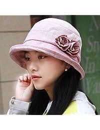 HAPPY-Cap Cappello da Donna Marea Primavera Estate Pescatore Cappello  Cappellino Inglese Curling Fiore Casual 0b2f6f709430