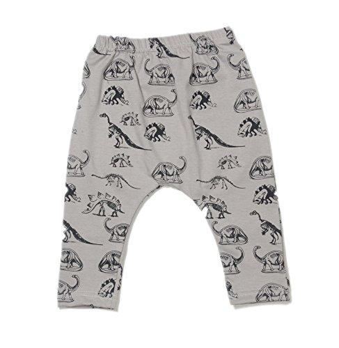 AOHANG Children Kids Baby Boys Girls Dinosaur Printed Harem Pants Trousers Stretch Large PP