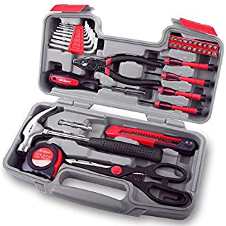 Hi-Spec 39 Piece Household Tool Kit with Most Reached for Hand Tools for Home DIY – Combination Pliers, Hammer, Screwdrivers & More in Storage Box - Great Housewarming Gift Idea Tool Set