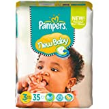 Pampers New Baby Taille 3 Midi 4–7 kg Spar Pack, 4 X 35 pièces