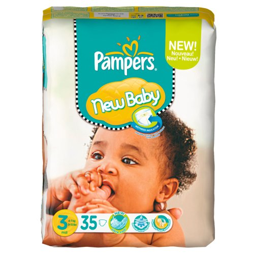 Pampers New Baby Gr.3 Midi 4-7kg Sparpack, 4x35 Stück