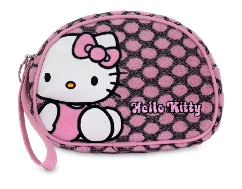 Neceser Hello Kitty rosa y gris aspecto polar