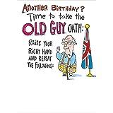 El Viejo Guy juramento. Tarjeta de felicitación de humor Bottlecap
