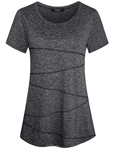 iClosam Damen Sportshirt Yoga Top Laufen Fitness Funktions Shirt