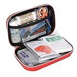 KIMISS Kit di aiuti di Emergenza Portatile Kit di Emergenza Cassetta degli Attrezzi per trattamenti di Sopravvivenza di Emergenza per Auto, casa, Viaggi, Campeggio, Ufficio o Sport (Rosso)(Rosso)