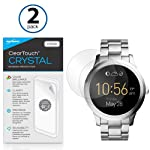 UPDATED DESIGN BoxWave Fossil Q Founder ClearTouch Crystal 2-Pack Screen Protector - Ultra Crystal Film Skin to Shield Against Scratches for Fossil Q Founder