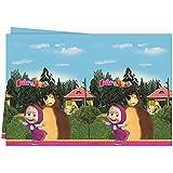 Masha y el Oso - Masha and the Bear - Fiestas Cumpleaños Mantel Lavable 120x180 cm