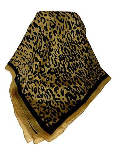 Sciarpa Prime Qualità di 100% Seta Classic Modello Ocelot Donna
