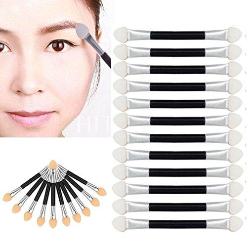 Sunnywill 12 Stück Make-up Doppel-End-Lidschatten Eyeliner Pinsel Schwamm Applikator für Mädchen Frauen Damen