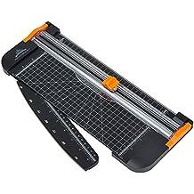 JLS 909-5 cortador de papel A4 Negro 12 pulgadas con regla multi-función. Seguridad automática con protección al cortar.(909-5)