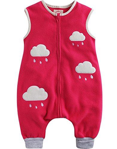 Vaenait Baby Kleinkinder Kinder Vlies Schlafsäcke Decke Pink Cloud M