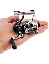 Origlam Mini Pêche moulinets Spinning Reel 4.3: 1Gear Métal Design lisse et puissante rotatifs bobines pour la carpe basse truite d'eau douce à l'eau salée Pêche