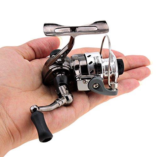 origlam Mini der Fischerei Rollen Spinning Reel 4.3: 1Gear Metall Design Glatte und leistungsstark Spinning Angelrollen für Karpfen Bass Forelle Süßwasser Salzwasser Angeln
