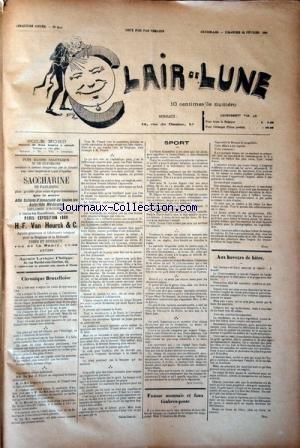 CLAIR DE LUNE [No 244] du 25/02/1894 - CHRONIQUE B...