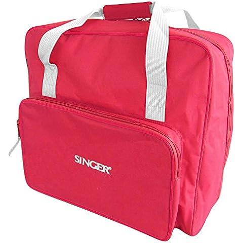 Singer - 120020, Borsa per macchina da cucire, in tessuto, 44 x 23 x 35 cm, Rosso (Rot)