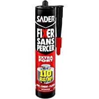Sader Fixer Sans Percer Extra Fort – Tous Matériaux et Tous Supports – Mastic Colle Intérieur – Maintien immédiat Extra…